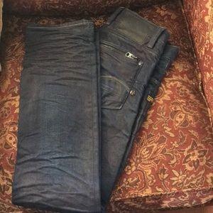 GS RAW 01 5204 Jeans Worn Twice 30W 32L Button Fly